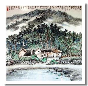 中国画-道法自然,徐金堤山水画!